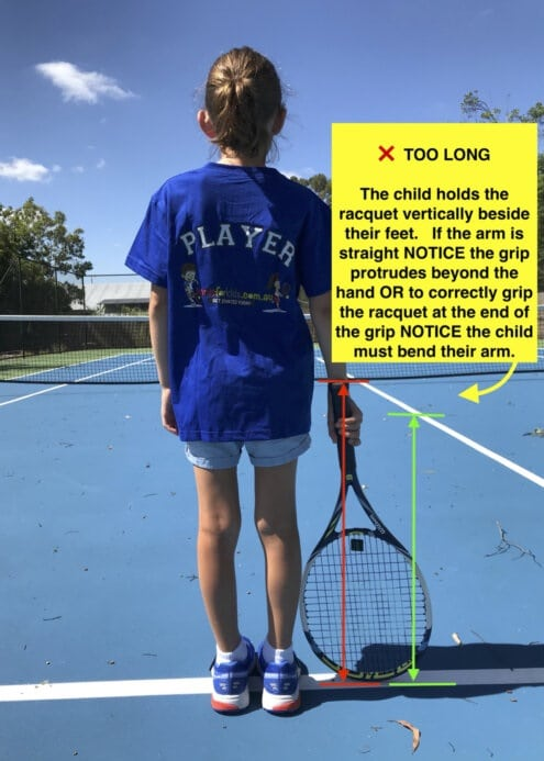 wrong choice of tennis racquet for your kid