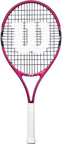 "Wilson Youth Burn Recreational Tennis Racket - Pink, 21"""