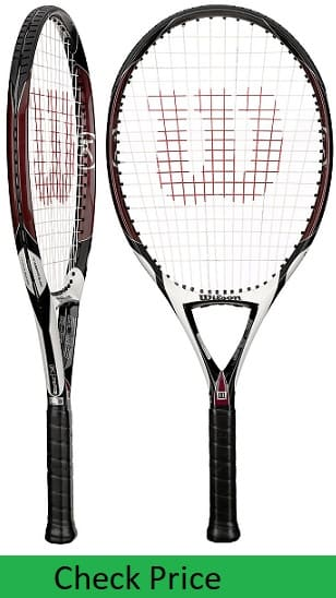 Lightest racket Wilson K Zero in Best tennis racquets for tennis elbow