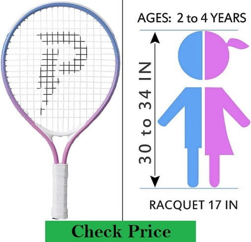 tennis racket best Size for 4 years old or under four kids