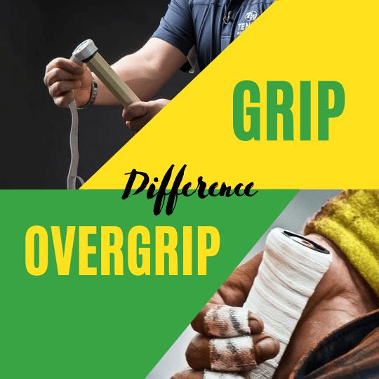 Replacement Grip vs Overgrip of tennis racquet