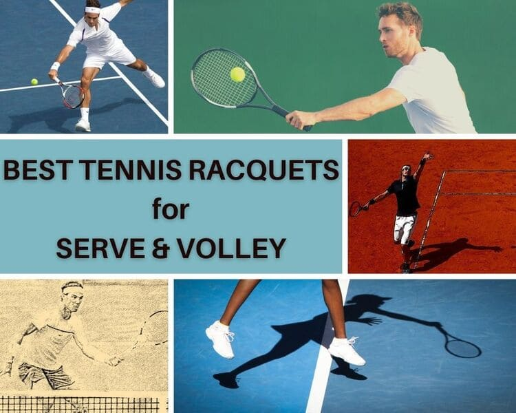 Top Tennis Players Serve and Volley in Courts with their Tennis Rackets