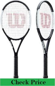 Wilson Prostaff team tennis racquet in black & silver